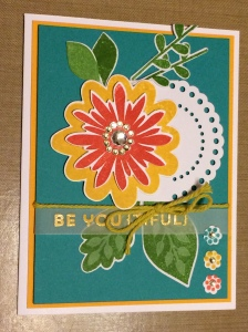 SU Flower Patch card by Cyndi