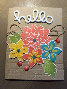 hello flowers card by cyndi